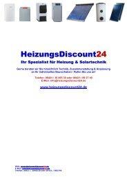 HeizungsDiscount 24 - Heizung und Solar zu Discountpreisen