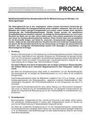 Merkblatt Brennwerttechnik für Modernisierung und Neubau von ...