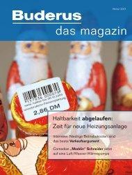 Buderus Magazin Winter 2007 Wasseraufbereitung