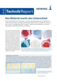 Das Material macht den Unterschied - Heizungswasser.ch