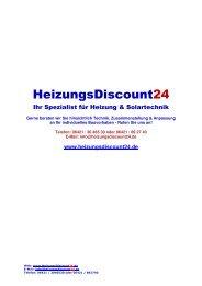 1. 2. - Heizung und Solar zu Discountpreisen