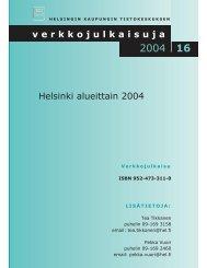 Helsinki alueittain 2004 verkkojulkaisuja