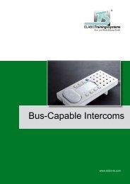 Bus-Capable Intercoms - HELAGO-CZ sro