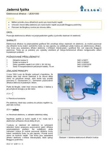 Elektronová difrakce - HELAGO-CZ sro