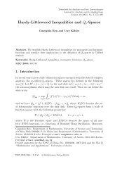 Hardy-Littlewood Inequalities and Qp-Spaces - Heldermann-Verlag