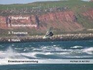Präsentation zur Einwohnerversammlung (J. Singer) - Helgoland