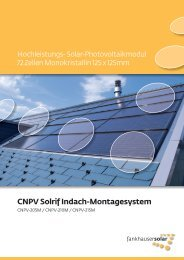 CNPV Solrif Indach-Montagesystem - Helion Solar AG