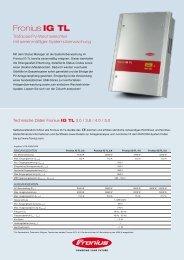 Datenblatt Fronius IG TL - Helion Solar AG