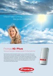 Datenblatt Fronius IG Plus - Helion Solar AG