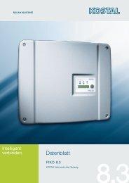 Datenblatt Piko 8.3 - Helion Solar AG