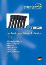 Hochvakuum Röhrenkollektor DF 6 - Helion Solar