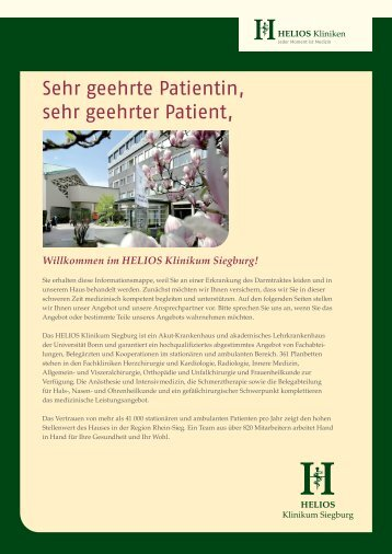 Sehr geehrte Patientin, sehr geehrter Patient - HELIOS Kliniken GmbH