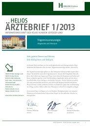 HELIOS Ärztebrief 01 | 2013 (Klinik für HNO-Heilkunde, Kopf-|Hals ...