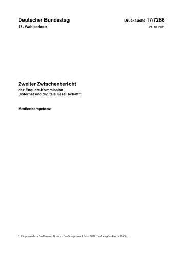 Deutscher Bundestag Zweiter Zwischenbericht
