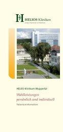 Wahlleistungen persönlich und individuell - HELIOS Kliniken GmbH