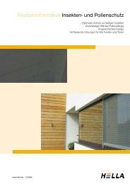 Produktinformation Insekten- und Pollenschutz - Hella Specht