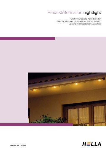 Produktinformation nightlight - Hella Specht