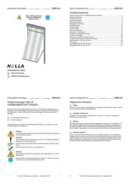 Hella Httpswww Bing Comform Z9fd1: Montage- Und Bedienungsan