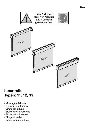 ROLLO_Montageanleitung 11 12 13.indb - Hella Sonnen