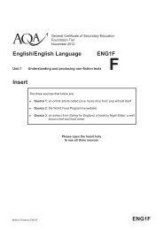ENG1F English/English Language ENG1F Insert