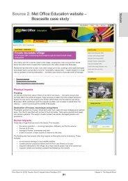 Source 2: Met Office Education website – Boscastle case study