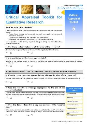Quality assessment tool for quantitative studies