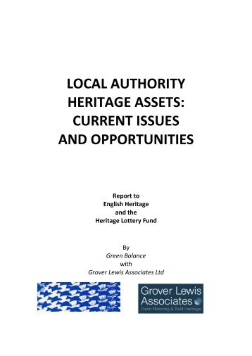 local authority heritage assets: current issues and opportunities