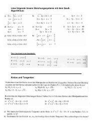 Löse folgende lineare Gleichungssysteme mit dem Gauß ...