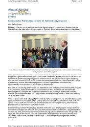 Lokales Sportreporter Patrick Wasserziehr im Helmholtz-Gymnasium