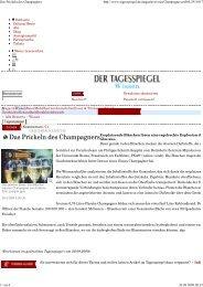 Das Prickeln des Champagners - Helmholtz Zentrum München