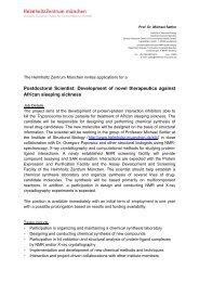 European Molecular Biology Laboratory - Helmholtz Zentrum ...
