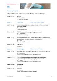 Thursday, April 11, 2013 Lectures and Discussions, Technische ...