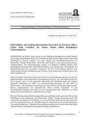 Paul Ehrlich- und Ludwig Darmstaedter-Preis 2013 an Professor Mary