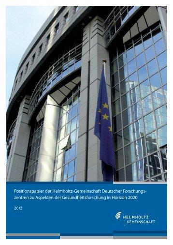 Gesundheitsforschung - Helmholtz-Gemeinschaft Deutscher ...