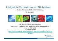 Präsentation - Helmholtz-Gemeinschaft Deutscher Forschungszentren