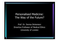 Personalised Medicine: The Way of the Future?