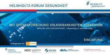 Einladung Helmholtz Forum Gesundheit als pdf