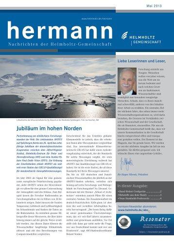hermann - Helmholtz-Gemeinschaft Deutscher Forschungszentren