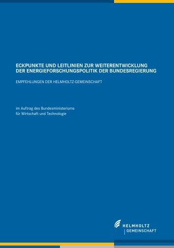 EckpunktE und lEitliniEn zur wEitErEntwicklung dEr ...
