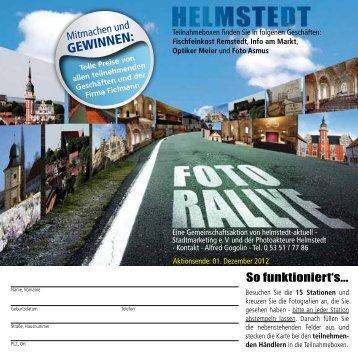 GEWINNEN: - helmstedt aktuell Stadtmarketing