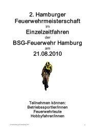 2. Hamburger Feuerwehrmeisterschaft Einzelzeitfahren ...