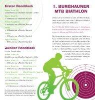 1. BURGHAUNER MTB BIATHLON - Helmuts-Fahrrad-Seiten