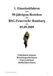 1. Einzelzeitfahren 50-jährigem Bestehen BSG-Feuerwehr Hamburg ...