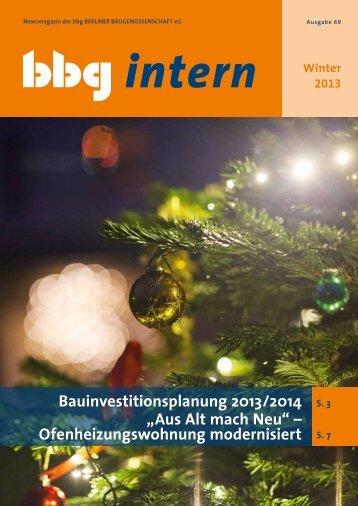 bbg intern 69 - Berliner Baugenossenschaft eG