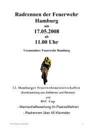 Radrennen der Feuerwehr Hamburg 17.05.2008 11.00 Uhr