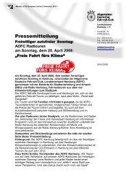Pressemitteilung - Helmuts-Fahrrad-Seiten