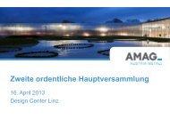 Präsentation zur 2. ordentlichen ... - Austria Metall AG