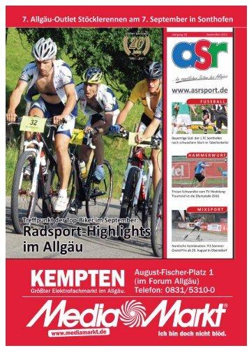 ASR Sport Ausgabe September 2013 - Allgäu Sport Report