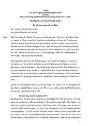 1 Rede zur Einbringung des Haushaltes 2014 und ... - Stadt Dorsten