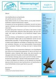 Wasserspiegel Dezember 2013 - Landesschwimmverband Sachsen ...